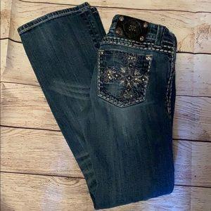 miss me  bootcut distressed crosses jeans jp5159bl